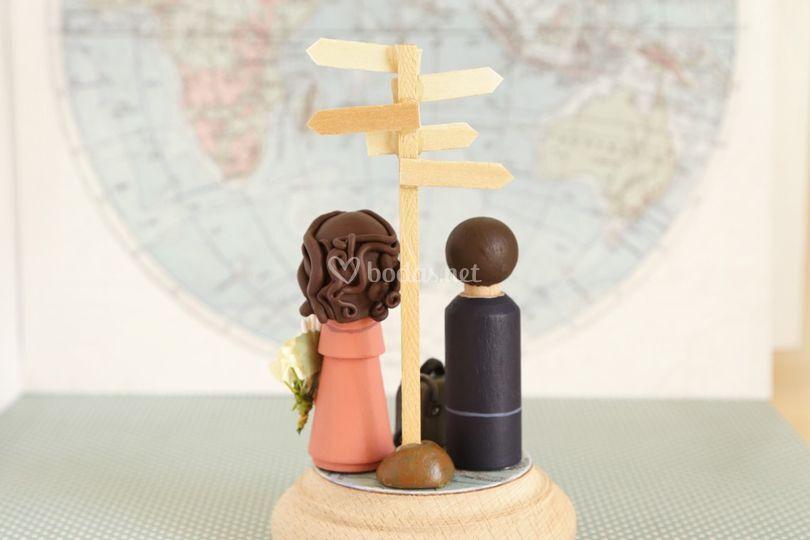 Novios viajeros
