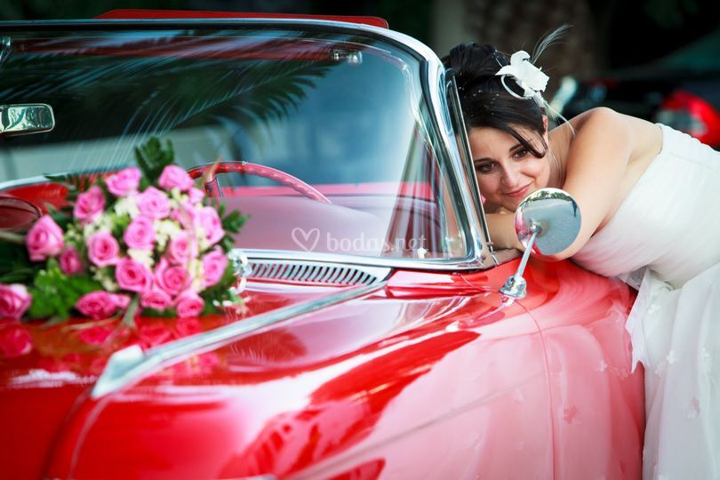 Alquiler Cadillac rojo