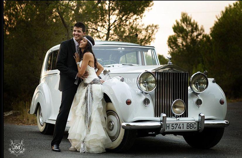Alquiler Rolls Royce blanco