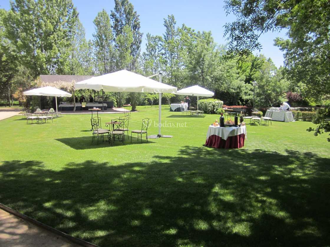 Jardín montado