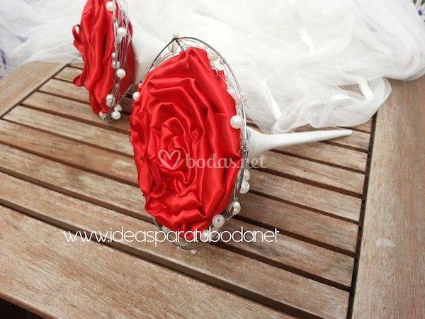 Porta alianzas bouquet