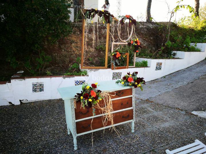 Altar para la ceremonia