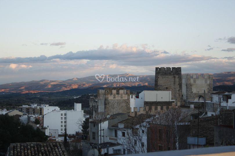 Vistas al Castillo de Buñol