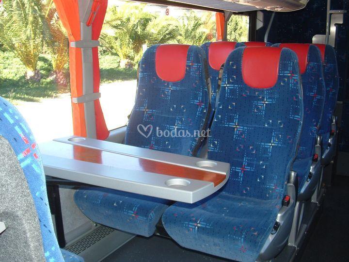 Interior bus 80 plazas
