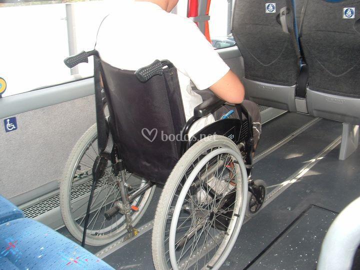 Anclaje para sillas de ruedas