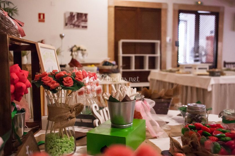 Detalles candy bar