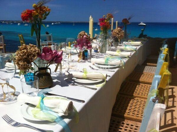 Mesa Boho style en Formentera