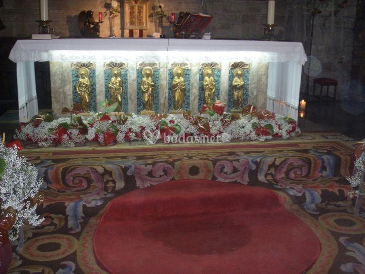Decoración altar