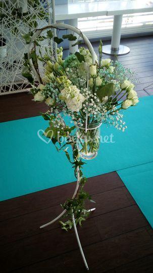 Detalle floral en pasillo