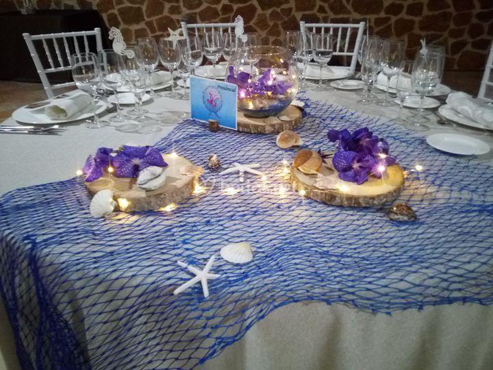 Decoración de mesa vandas