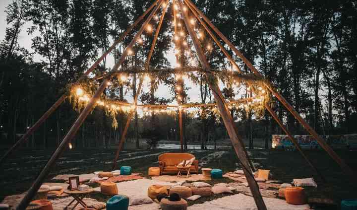 Estructura con luces