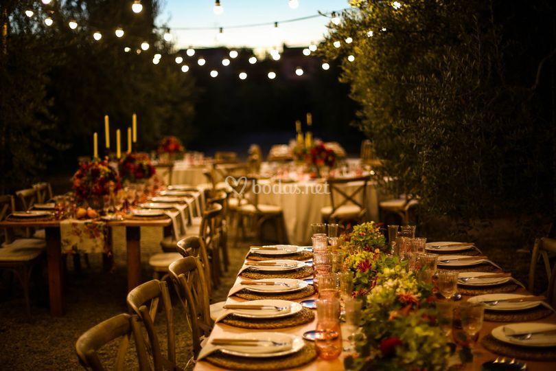 Banquete en la zona Oliveras