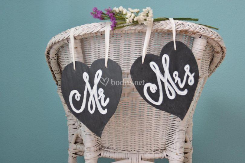 Alquiler de decoración para sillas