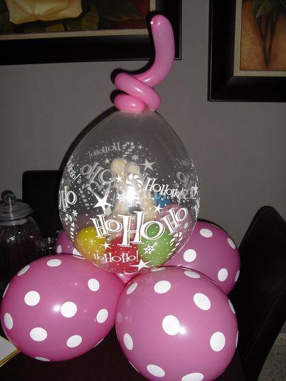 Peluche dentro de globo