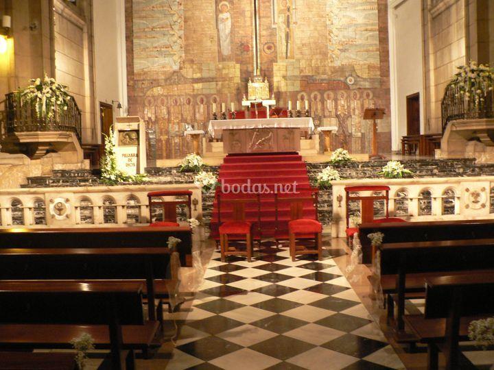 Deocración altar
