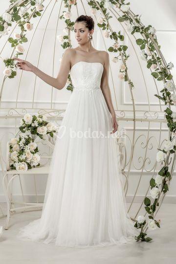Vestido de novia corte evasé