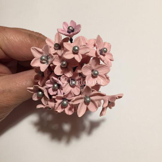 Flores de porcelana fría