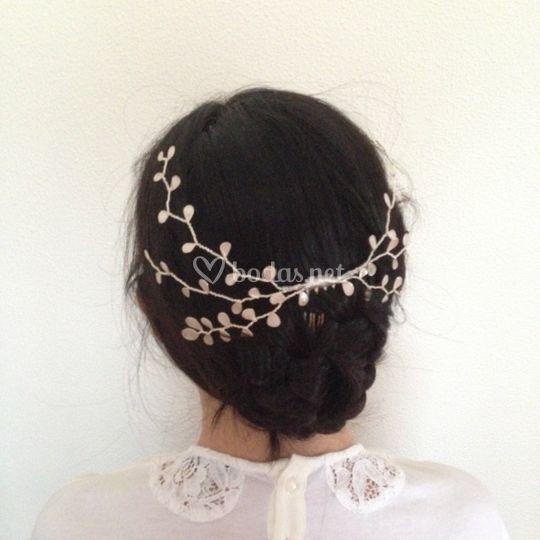 Tiara de novia  esmalte