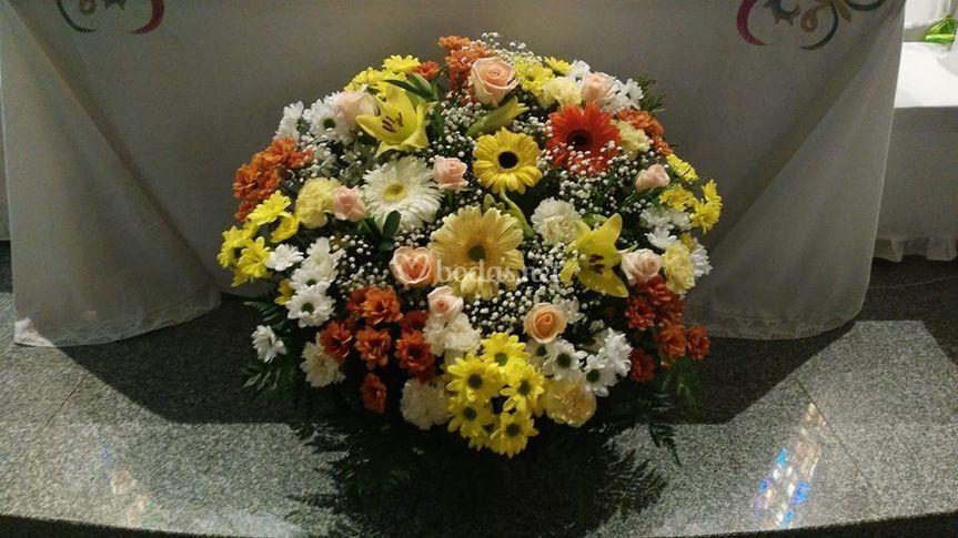 Centro floral variado