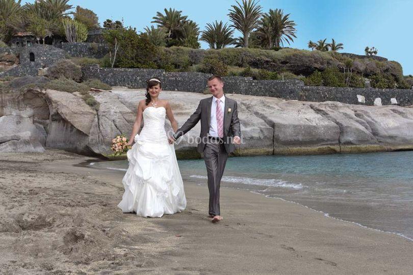 Fotografías originales para boda en Tenerife