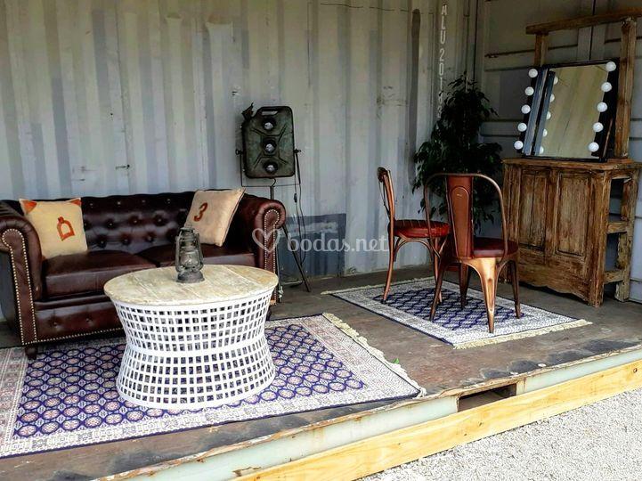Alquiler sofás chester y tapiz