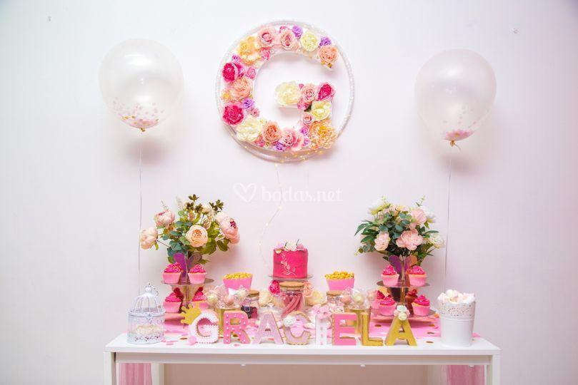 Candy bar con decoración