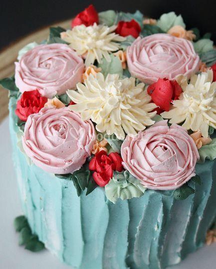 Flores en crema