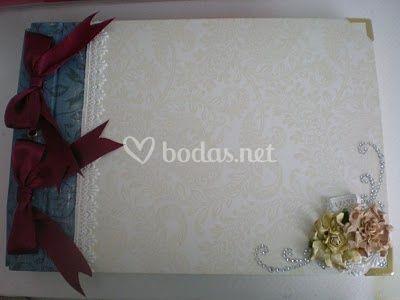 Libro de firmas para boda estilo antiguo