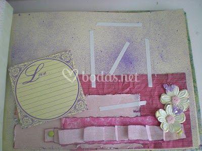 Página interior decorada, romántico