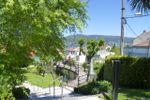 Jardines y terraza del lago de Siete Torres
