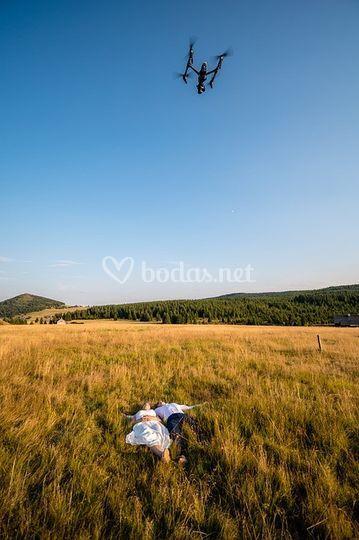 A vista de dron