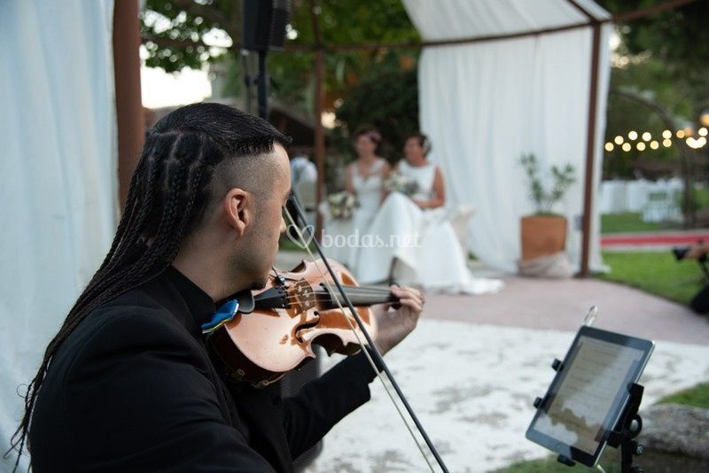 Violinista en ceremonia civil