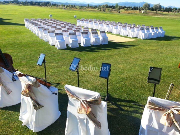 Ceremonia civil musica golf