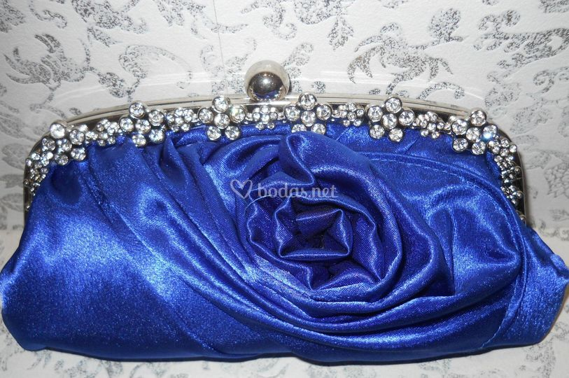 Bolso fiesta color azul pavo real