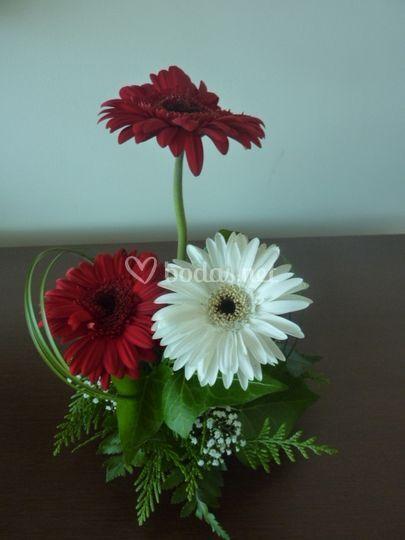 Centro flores banquete