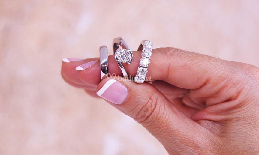 Oro de 18k y diamantes