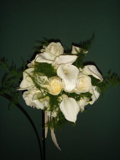 Ramo de novia calas blancas