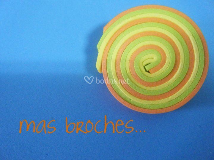 Detalle broche espiral