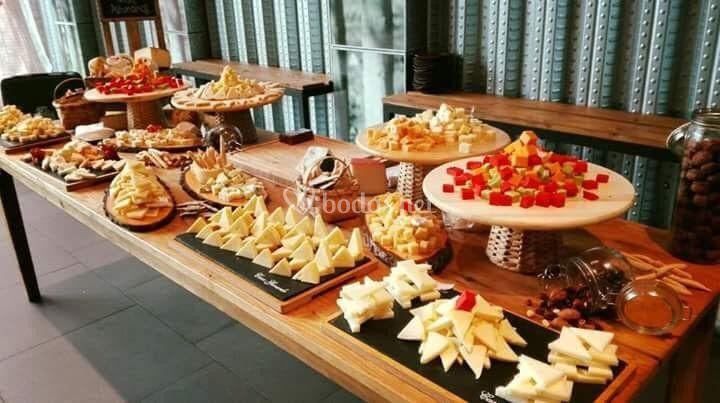 Tabla de queso asturianos.