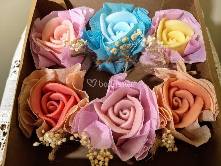 Rosas decoradas