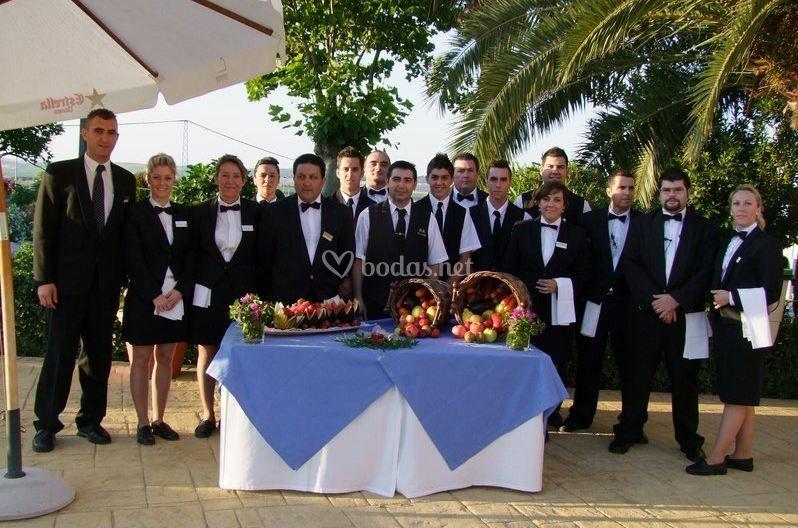 Equipo profesional de servicio en vuestra boda