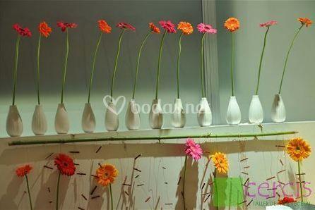 Flores cuidadas para decoración