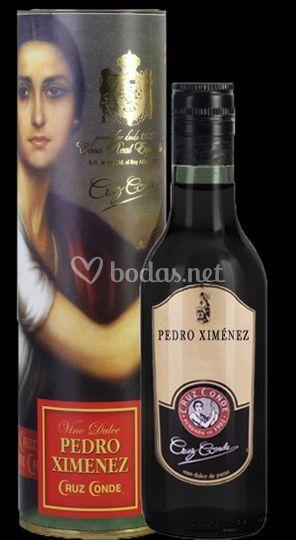 Botella de Pedro Ximénez con c