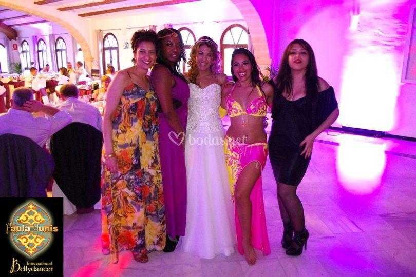 Amigas & novia en la boda