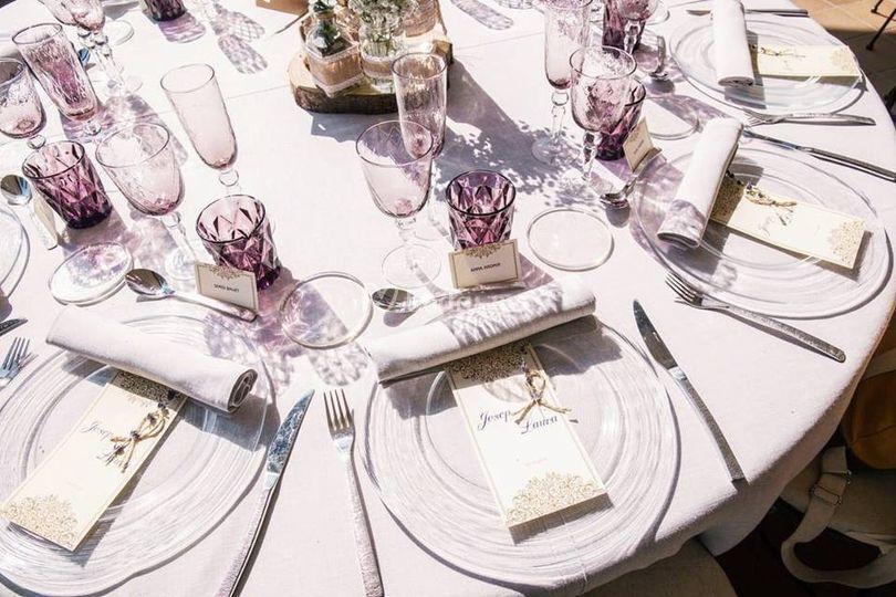 Mesas para la boda