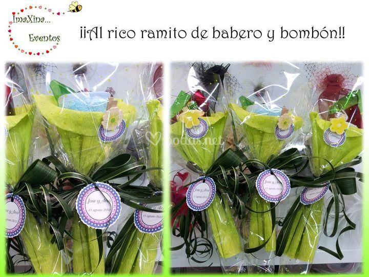 Ramos babero + bombón
