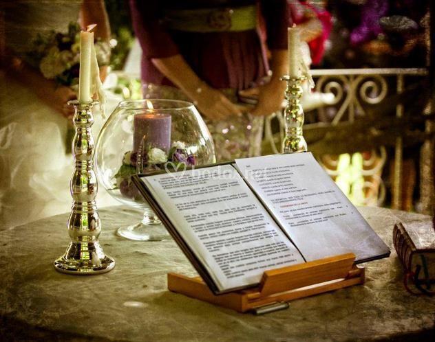 Detalle pérgola bodas
