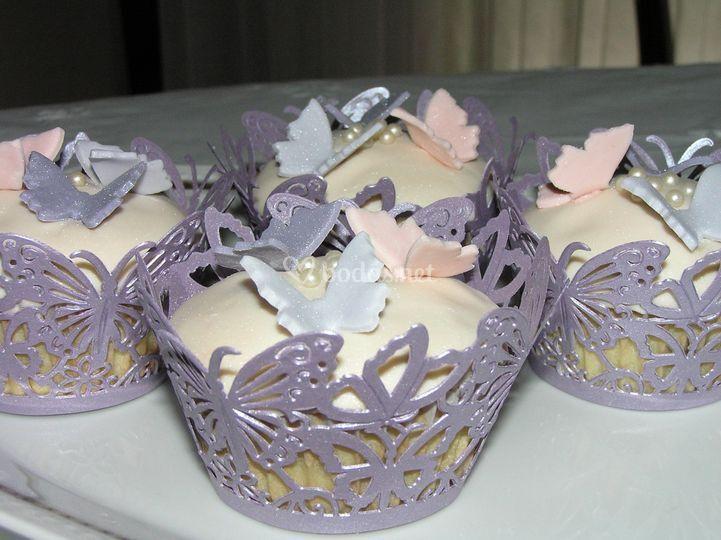 Cupcake de mariposas
