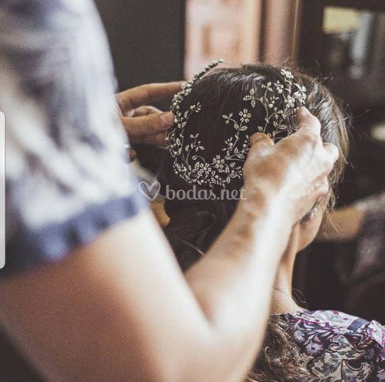 Casco Basty, prueba de peinado