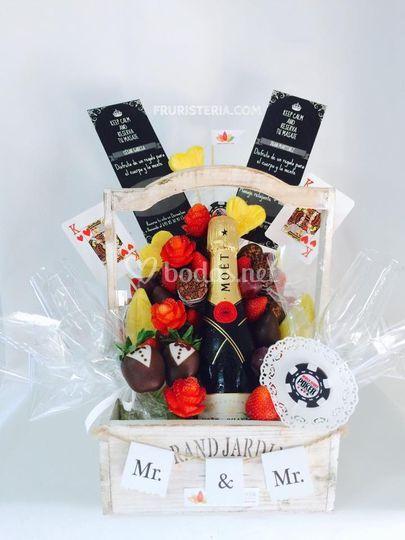 Ramo de frutas para los novios